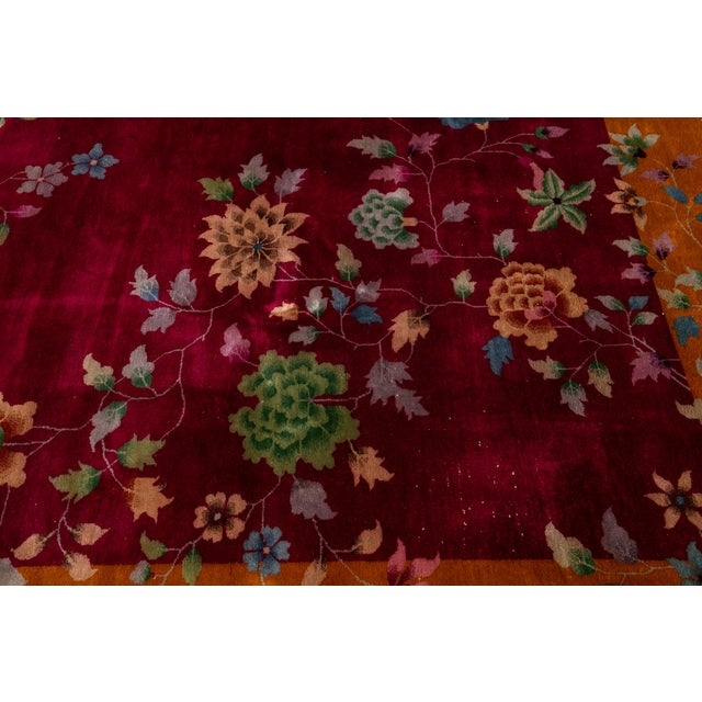 Early 20th Century Antique Art Deco Chinese Wool Rug 9 X 11 For Sale - Image 11 of 13