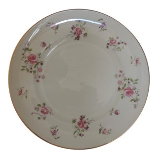 Pink and White Limoges Dessert Floral Plate For Sale