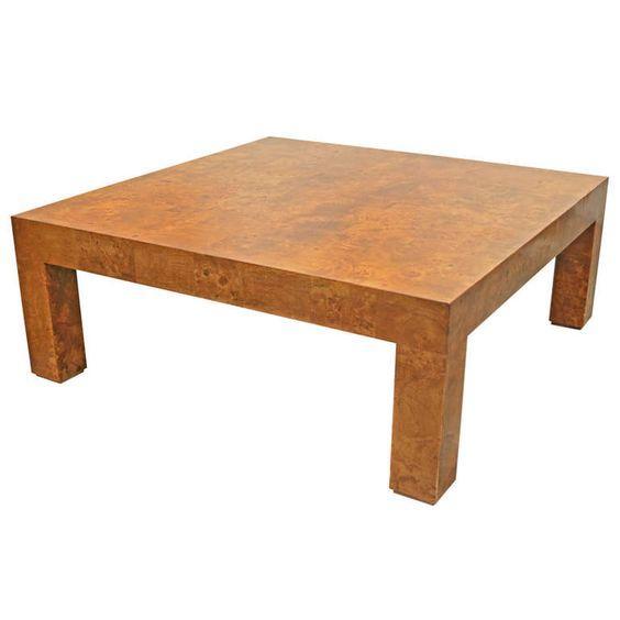 Burlwood Coffee Table by Milo Baughman - Image 1 of 4