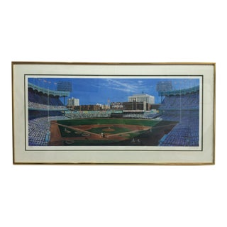 """Late 20th Century A. Turinko """"Yankee Stadium"""" Framed & Matted Limited Edition Signed Print For Sale"""