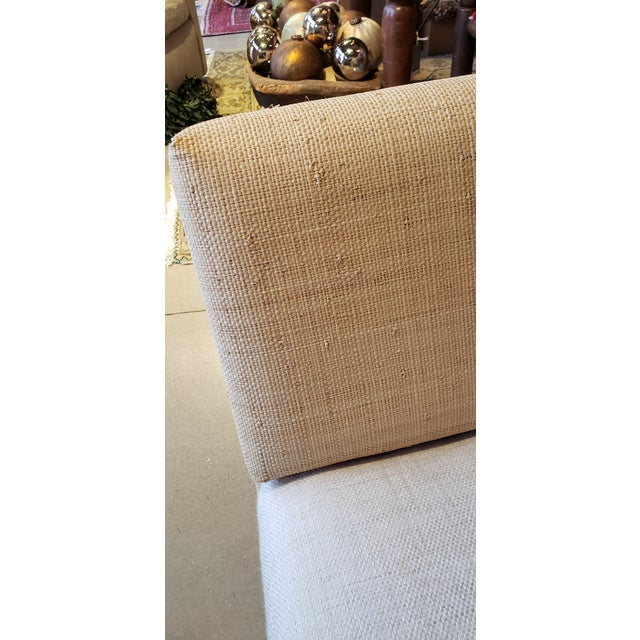 2010s Slipper Chair in Madagascar Cloth For Sale - Image 5 of 5