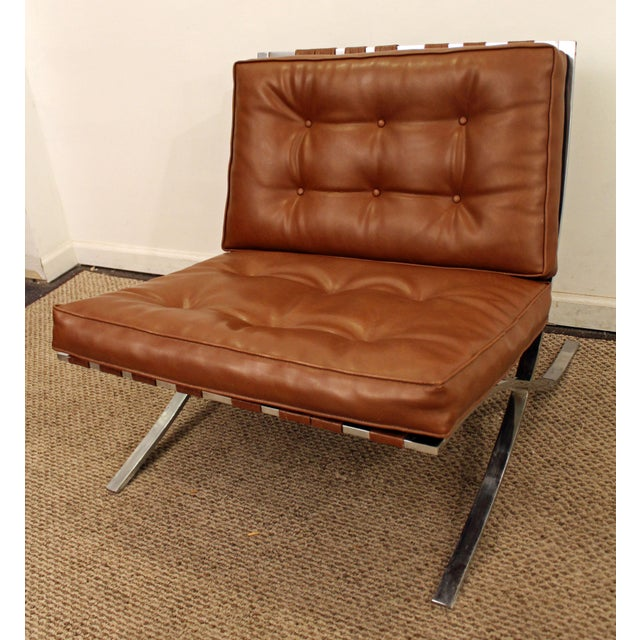 Mid-Century Danish Modern Milo Barcelona Style Chrome Lounge/Accent Chair - Image 3 of 11