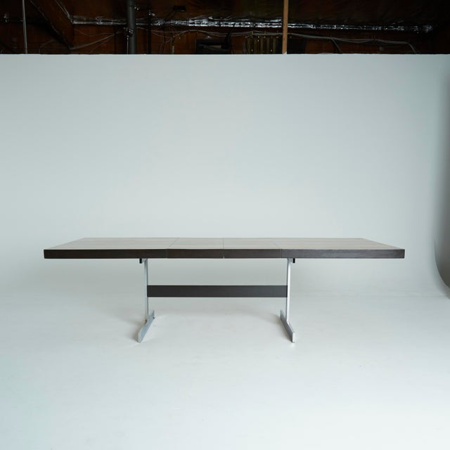 Expandable Mixed Wood Milo Baughman Dining Table - Image 5 of 7