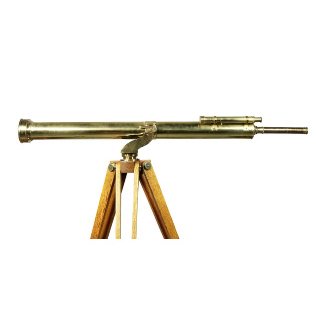 Traditional Edwardian Brass Telescope on Stand by J.H.Steward For Sale - Image 3 of 11