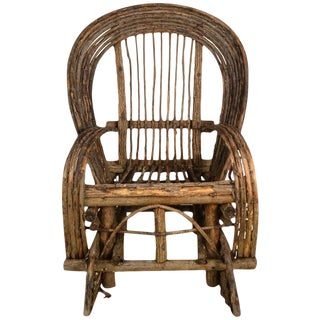 Adirondack Twig Rocking Chair For Sale