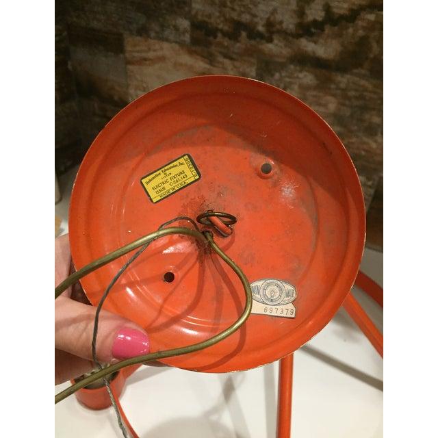 Vintage Mid Century Orange Chandelier - Image 7 of 9