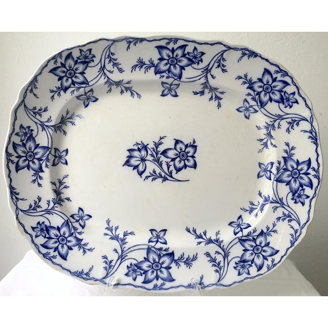 19th Century Chinoiserie Ironstone Transferware Platter For Sale - Image 9 of 9