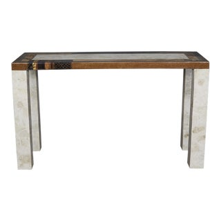 "1990s Contemporary Tessellated Stone ""Collage"" Console Table With Abstract Detailing, For Sale"