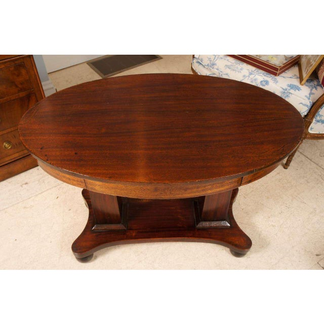 Empire Empire Mahogany Pillar and Scroll Table With One Drawer For Sale - Image 3 of 9