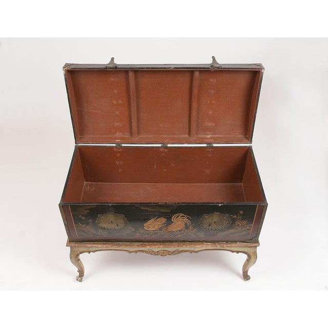 Mid 19th Century Mid 19th Century Spanish Chinoiserie Trunk For Sale - Image 5 of 13