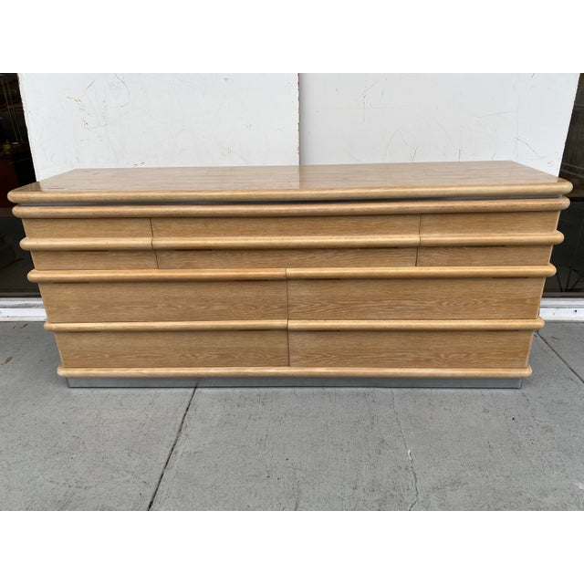 American Jay Spectre Chest of Drawers in Cerused Oak For Sale - Image 3 of 12