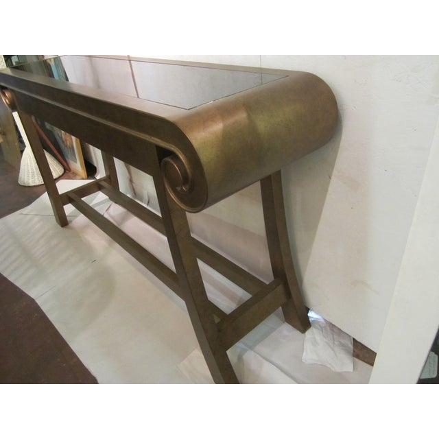 Aged Bronze Finish Console by Century Furniture - Image 5 of 8