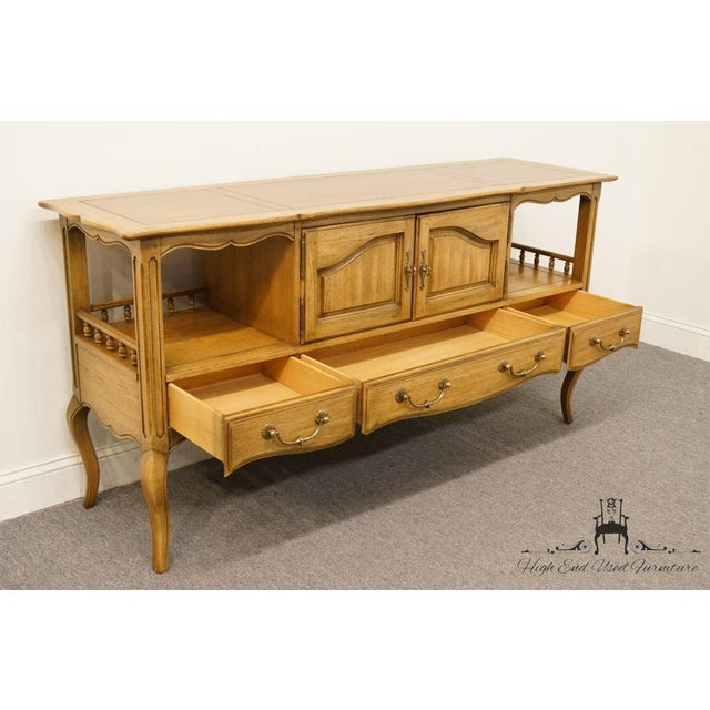 """Wood Thomasville Furniture Chateau Collection French Country 64"""" Server / Buffet For Sale - Image 7 of 13"""
