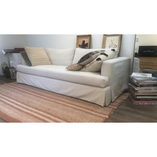 Transitional Re-Upholstered Pottery Barn Sofa For Sale - Image 3 of 6