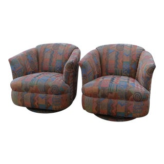 1980s Vintage Swivel Chairs- a Pair For Sale