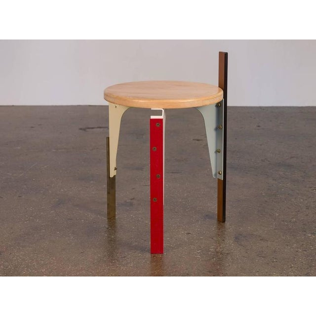 One-of-a-kind stool from New York City design collective Rich Brilliant Willing. A eye-catching piece of functional art.