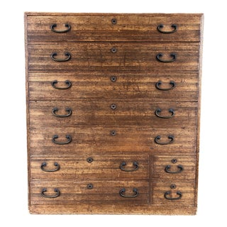 Mid 19th Century Vintage Japanese Tansu Chest of Drawers For Sale