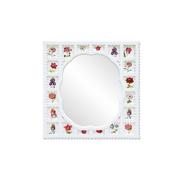 Fleur Home x Chairish Liz Marsh Scallop Lattice Mirror For Sale - Image 4 of 4