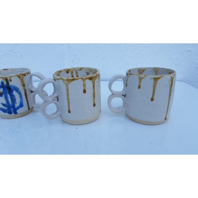 1975 Blackwell Hand Thrown Coffee Mugs - Set of 4 For Sale - Image 5 of 7