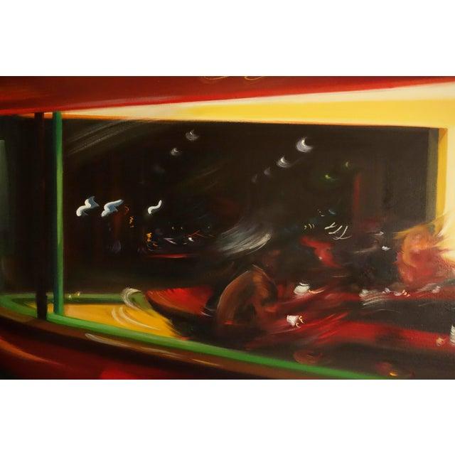 "Alexandra Pacula ""Nighthawks"" Painting - Image 6 of 7"