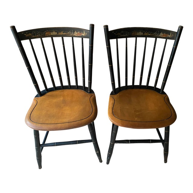 Stencil Hitchcock Chairs- A Pair For Sale