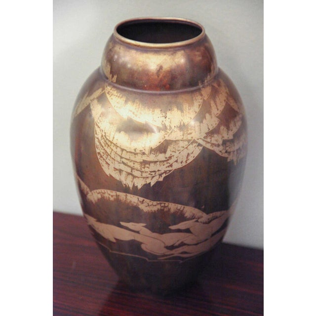 1930s Art Deco Dinanderie Vase by Mergier For Sale - Image 5 of 8