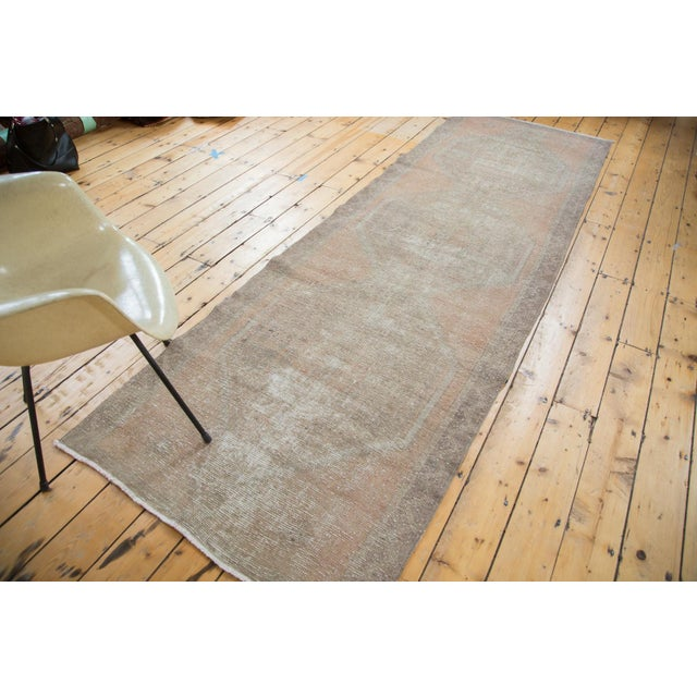 "Distressed Oushak Rug Runner - 3'5"" X 10'9"" - Image 2 of 8"