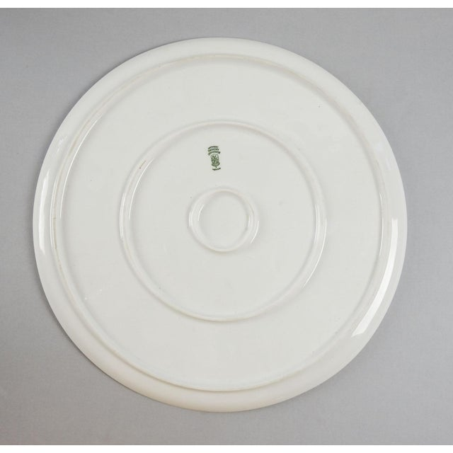 White Porcelain Serving Plate For Sale - Image 4 of 4