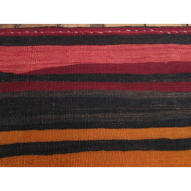 Textile Banded Kilim For Sale - Image 7 of 8