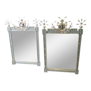 Vintage Friedman Brothers Isabella Silver Leaf Mirrors - a Pair For Sale