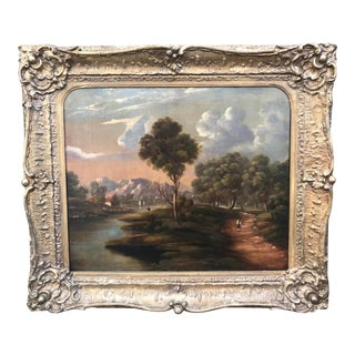 Antique English Landscape Painting For Sale