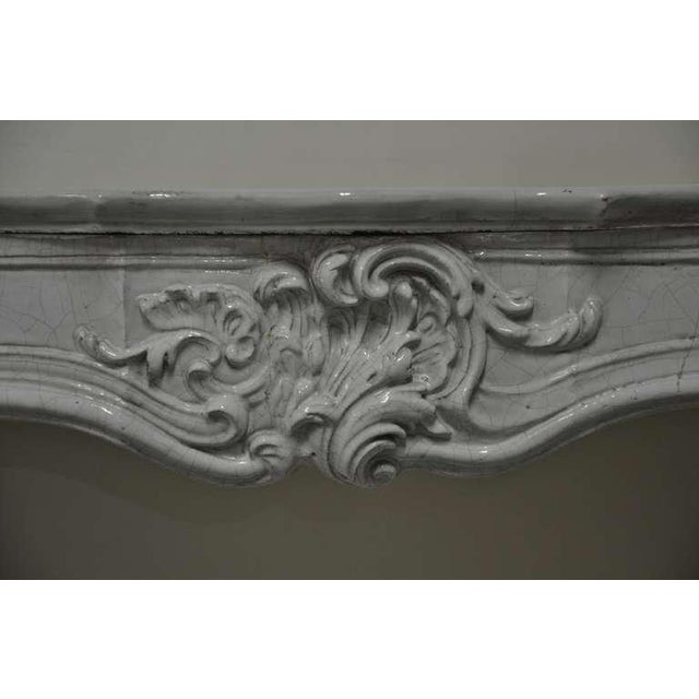 French -Unique - 19th c. Porcelain French Rococo Fireplace For Sale - Image 3 of 11