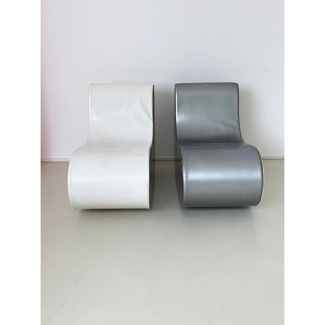 1960s Italian Rocking Boomerang Chairs - a Pair For Sale - Image 10 of 12