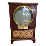 Image of Vintage Mid Century Zenith Round Screen Tv For Sale