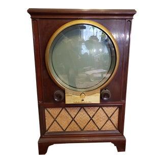 Vintage Mid Century Zenith Round Screen Tv For Sale