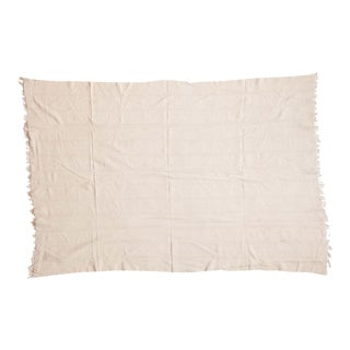 Natural African Textile Throw For Sale