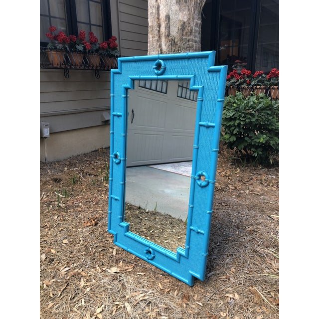 Vintage Faux Bamboo Mirror For Sale - Image 9 of 11