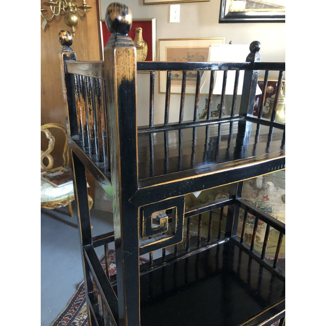 20th Century Asian Inspired Chippendale Style Etagere For Sale - Image 4 of 12