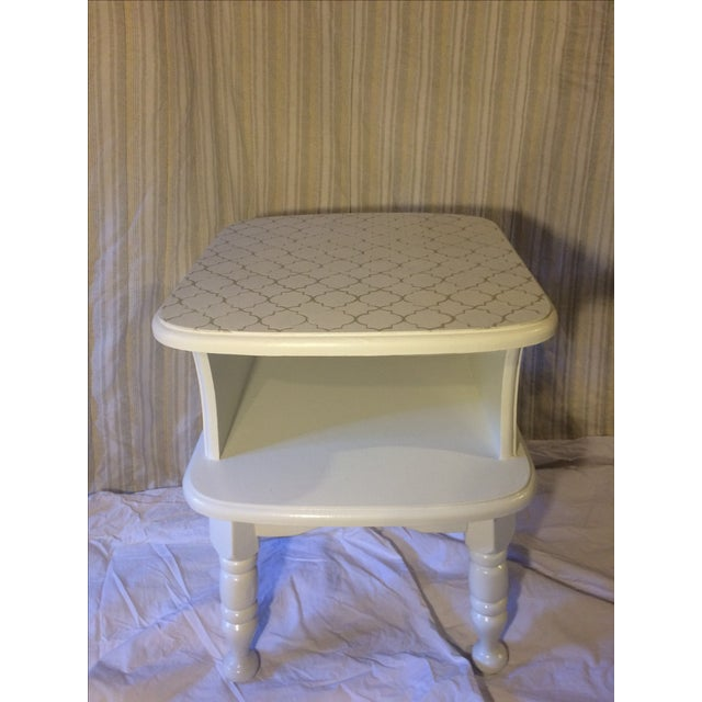White Painted Side Table - Image 2 of 3