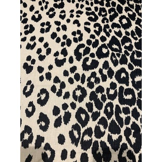 Traditional Schumacher Iconic Leopard in Ink - 4 Yards For Sale