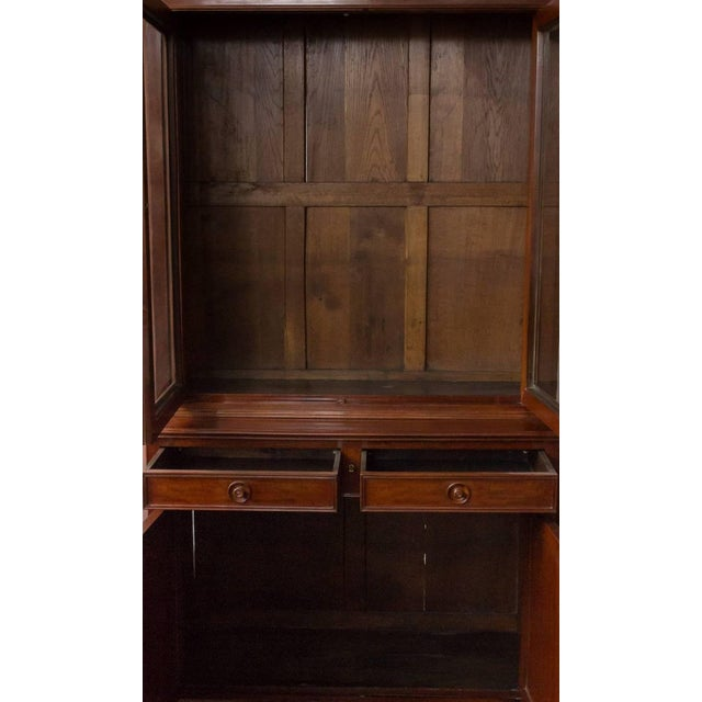 Wood French 19th Century Two-Part Mahogany Bookcase For Sale - Image 7 of 10