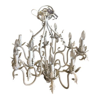 Vintage Shabby Chic Leaf Chandelier
