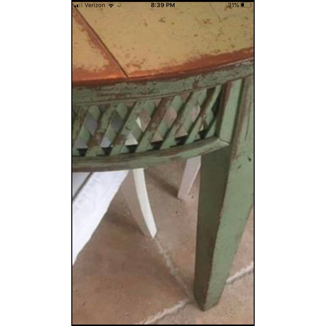 Vintage Farmhouse Dining Table For Sale - Image 4 of 10