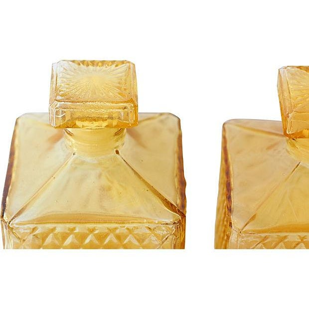 Amber Quilted Decanters - Pair - Image 2 of 3