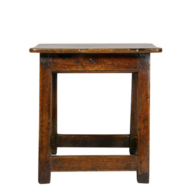 George II Oak Stool/Table For Sale