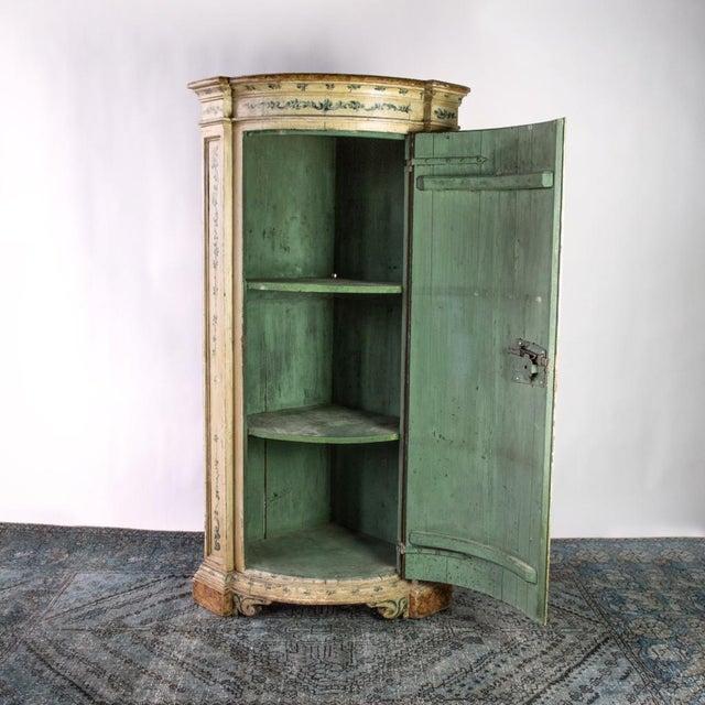 Italian Antique Italian Corner Cupboard For Sale - Image 3 of 7