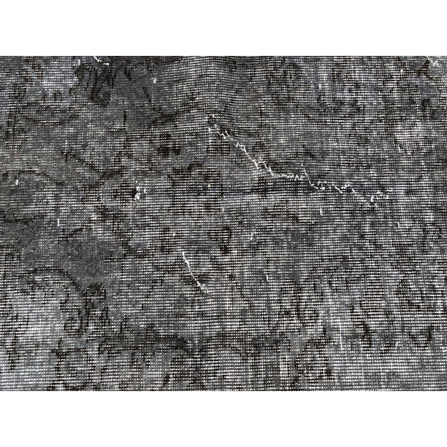 Dark Gray Turkish Vintage Wool Dark Gray Rug - 5′5″ × 9′3″ For Sale - Image 8 of 11
