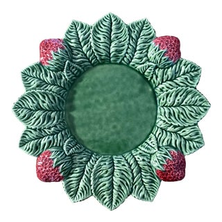 Vintage Strawberry Service by Bordallo Pinheiro Plate For Sale