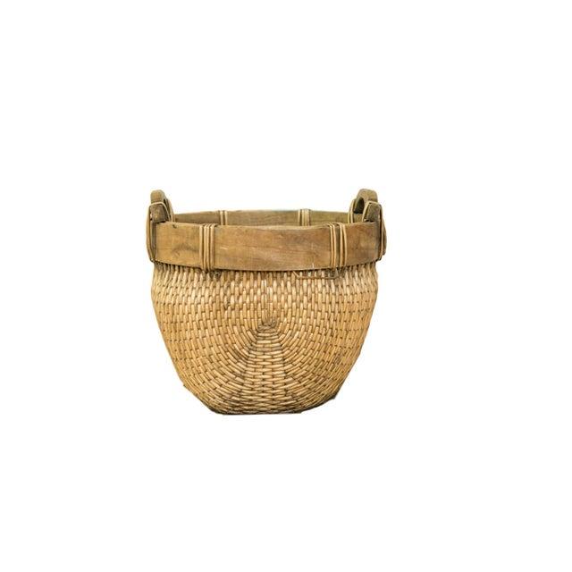 Natural Vintage Willow Basket For Sale - Image 10 of 10