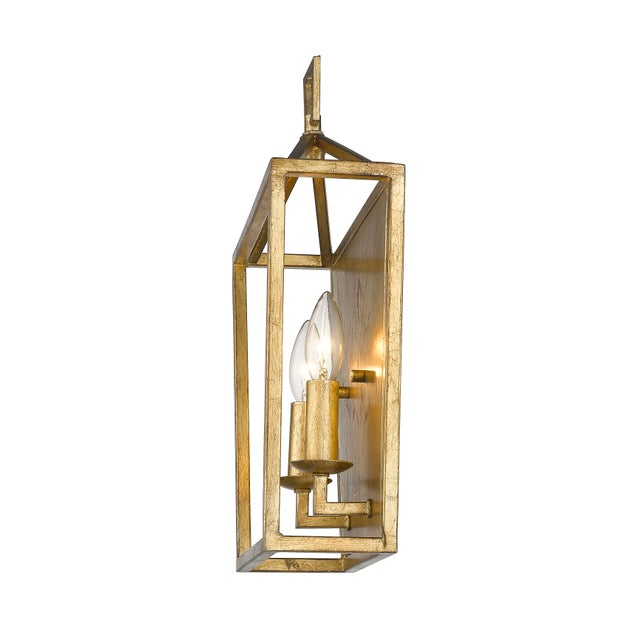 Gold Ponce City 2 Light Sconce, Gilded Gold For Sale - Image 8 of 8